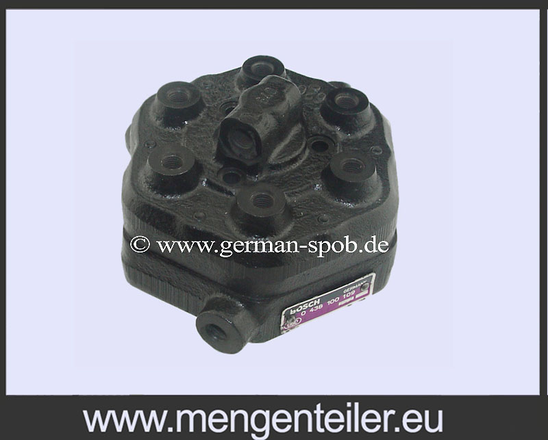 0986438109 DRIVSTOFFORDELER Bosch | DE LOREAN | 0 986 438 109 Repair Fuel Distributor DE LOREAN
